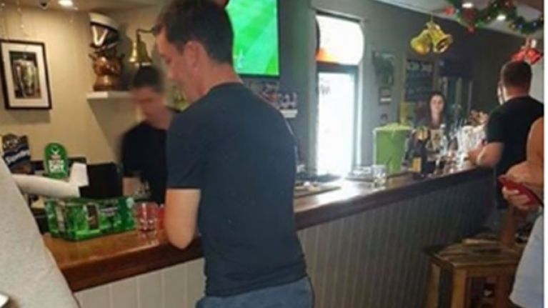 PIC: You have to love this Irishman's commitment to getting a drink in this Australian pub