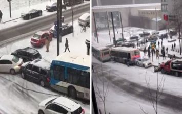 WATCH: The risks from driving in the snow are clear via these car crashes in Montreal