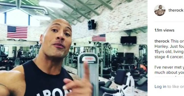 WATCH: Dwayne 'The Rock' Johnson has sent this truly inspiring video message to a 15-year-old Irish boy battling cancer
