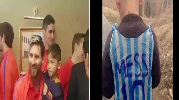 WATCH: Lionel Messi finally meets the Afghan boy whose plastic bag jersey went viral
