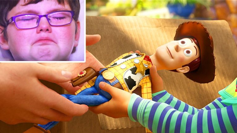 gogglebox kids watching the final scene of toy story 3 is