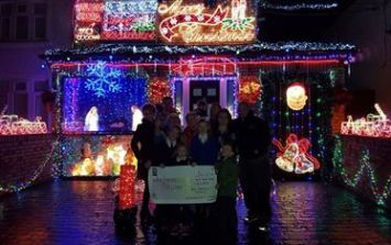 PICS: Dublin family wins €1000 for Christmas decorations and immediately gives it to charity