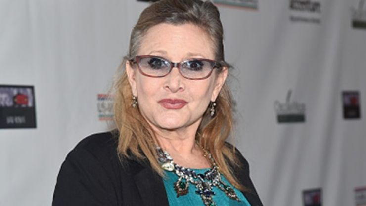 Actress Carrie Fisher has been taken to hospital after a heart attack on board a flight