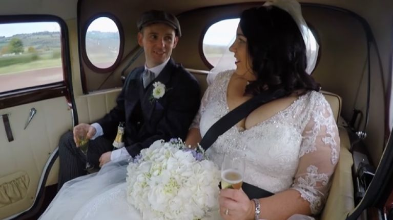 This Irish couple went all out with their Peaky Blinders-themed wedding