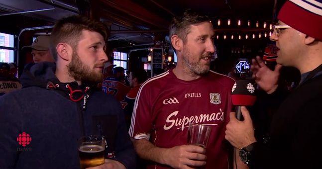 WATCH: Slightly inebriated Irishman stars in brilliant interview before ice hockey game on Canadian TV