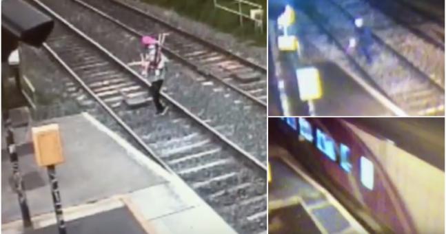 WATCH: Irish Rail release chilling video showing shocking near miss on train track