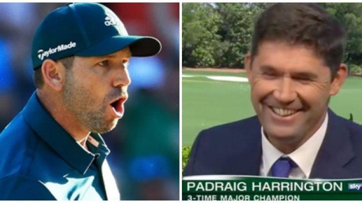 WATCH: Padraig Harrington shows he's still not a fan of Sergio Garcia