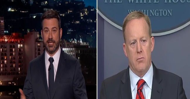 WATCH: Jimmy Kimmel went to town on Sean Spicer after his inflammatory Hitler comments
