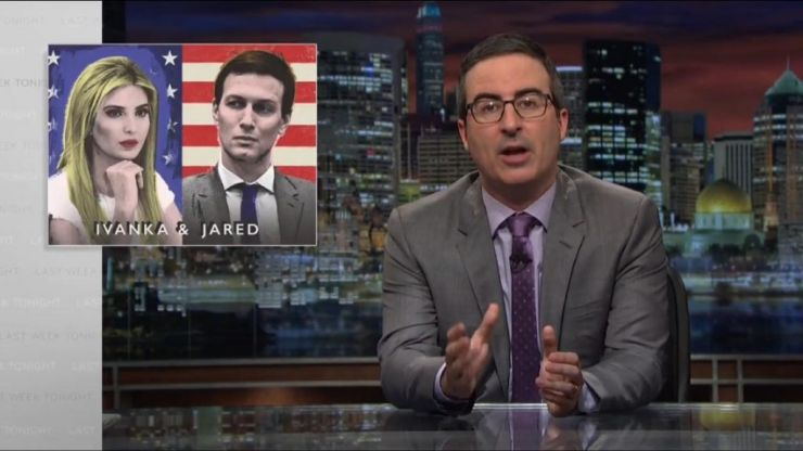 WATCH: Ivanka Trump and her husband Jared Kushner are under the spotlight in Last Week Tonight
