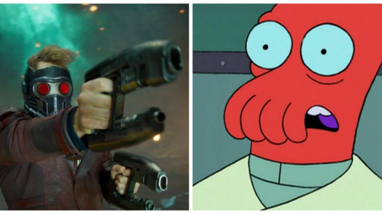 Did you notice these MASSIVE similarities between GOTG2 and a classic episode of Futurama?