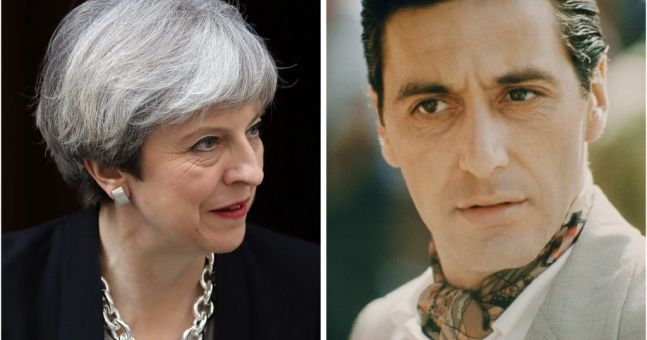 This is why fans of The Godfather will identify with Theresa May's snap election announcement