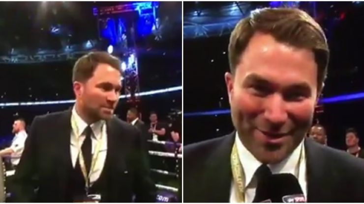 Eddie Hearn responds to being roundly booed by 90,000 boxing fans