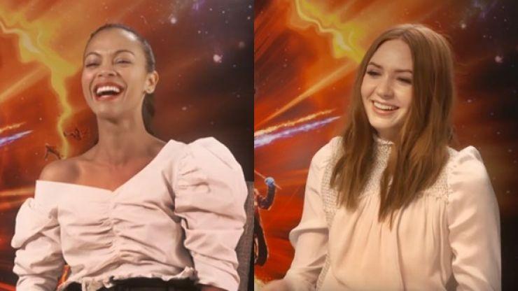 Marvel, make this happen! Zoe Saldana & Karen Gillan want to make a buddy cop-style spin-off for Gamora and Nebula