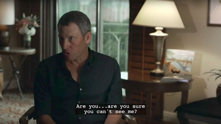 Lance Armstrong stars in this fake documentary about drug use in cycling