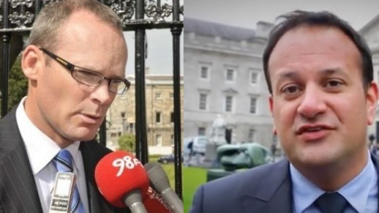 Leo Varadkar and Simon Coveney to face off for the first time on Thursday night
