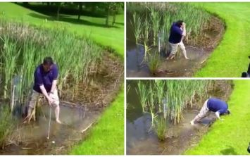 WATCH: Never has a funnier golf shot been struck in Ireland than this one at Shane Lowry's home club in Offaly