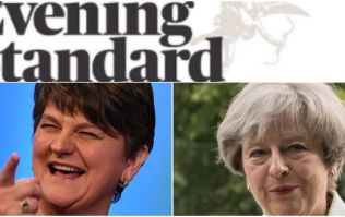 Evening Standard's front page sums up mood in UK as Theresa May does deal with DUP
