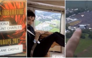 WATCH: This chancer talked his way on to Guns n' Roses' helicopter at Slane