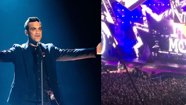 WATCH: Robbie Williams changes lyrics to 'Strong' in tribute to Manchester