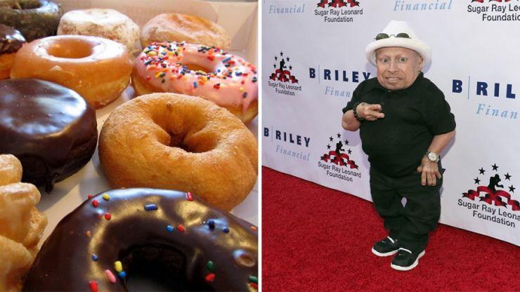 PIC: Do you know how many donuts tall you are? Verne Troyer does