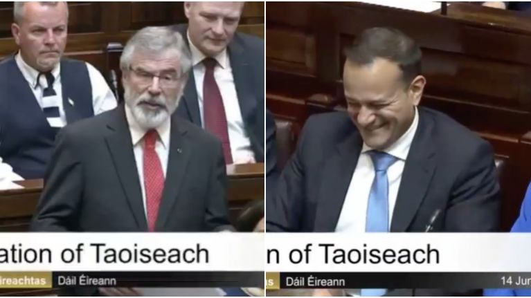 Enda Kenny's reaction to Leo Varadkar and Gerry Adams attending the same pilates class is just glorious