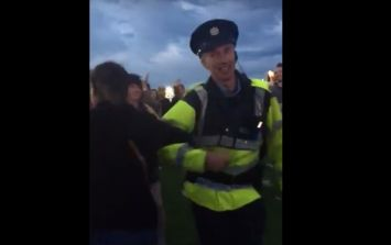 WATCH: This dancing Garda had as much fun as anyone at Arcade Fire last night