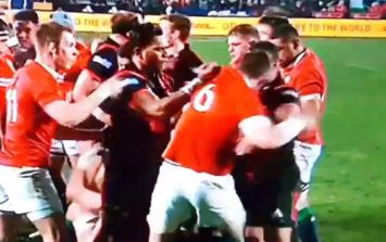 WATCH: Peter O'Mahony steps up for his Lions teammates, takes on three separate Crusaders at once