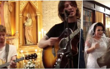 WATCH: Picture This follow through on promise and sing bride and groom down the aisle at wedding