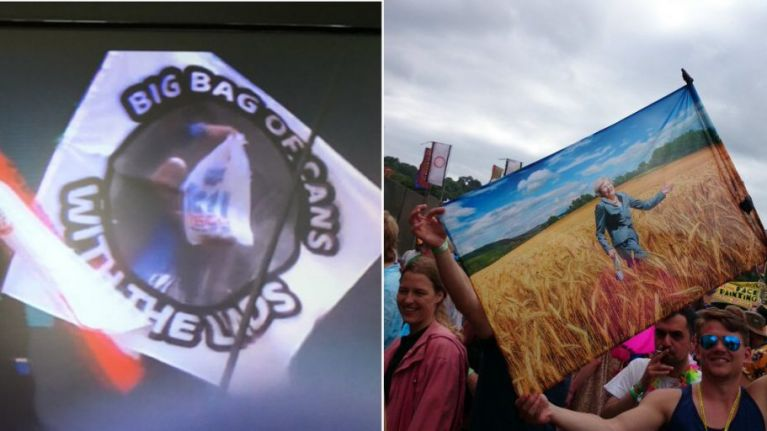 There were the best, and funniest, flags at Glastonbury 2017
