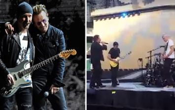 London firefighters and their families got a private gig by U2