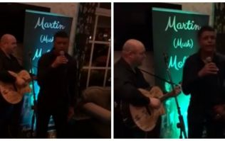 WATCH: Chris Kamara gives his best Ronan Keating impression in Carlow hotel