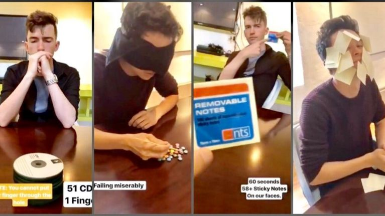 WATCH: Two men attempt to break as many Guinness World Records as possible... in the office