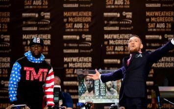 Did you spot the not-very-subtle message in McGregor's suit at the press conference?