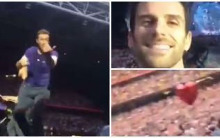 WATCH: Chris Martin grabs phone of Irish fan at Coldplay gig in Cardiff; shoots amazing on-stage footage