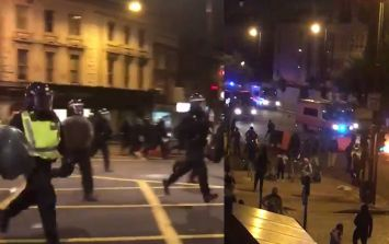 Fireworks and bottles thrown at riot police at East London death protest