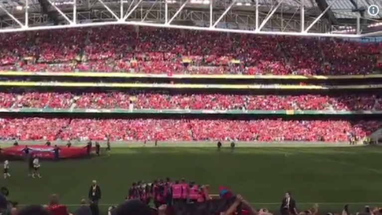 WATCH: Aviva Stadium belts out a rendition of You'll Never Walk Alone that Anfield would be proud of
