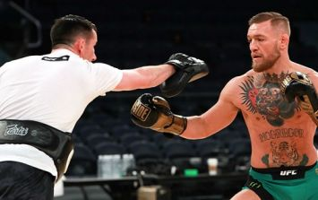 Referee needed to halt McGregor's sparring session when things got 'a little rough'