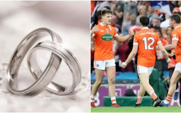 PIC: This man wasn't going to let his son's wedding stop him watching his county play