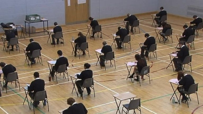 A small number of Leaving Cert students received top marks in their exams