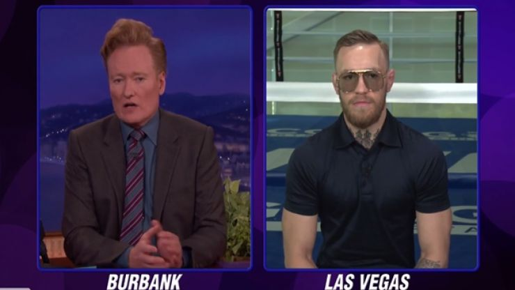 WATCH: Conor McGregor makes bold prediction about Mayweather fight live on Conan O'Brien