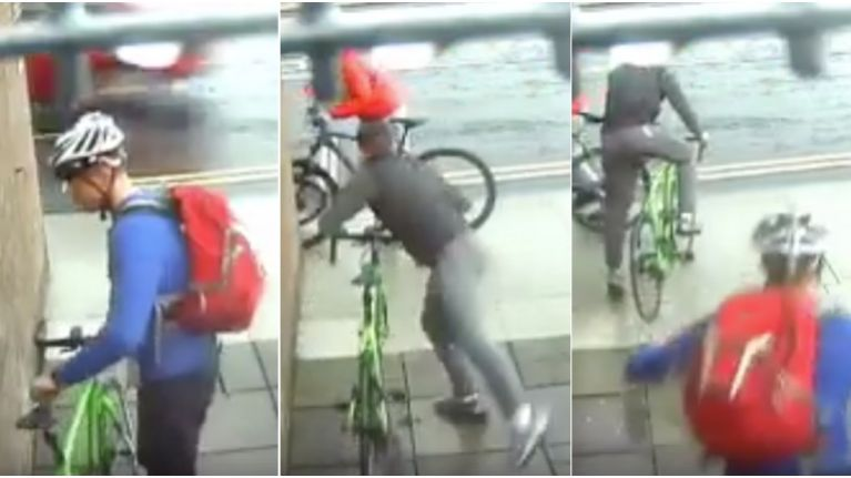WATCH: Irish cyclist absolutely levels thief who tries to steal his bike