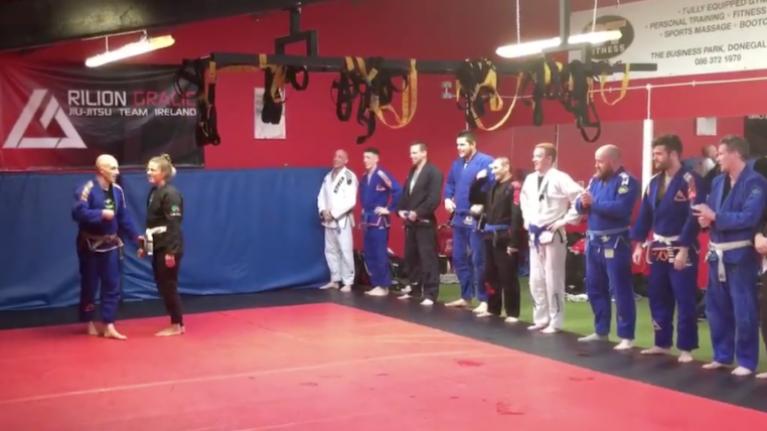 WATCH: Donegal jiu jitsu coach surprises everybody with proposal after class