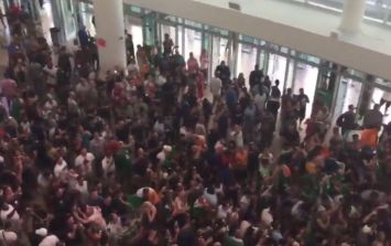 WATCH: Irish fans take over the T-Mobile Arena with massive, impromptu party at McGregor weigh-in