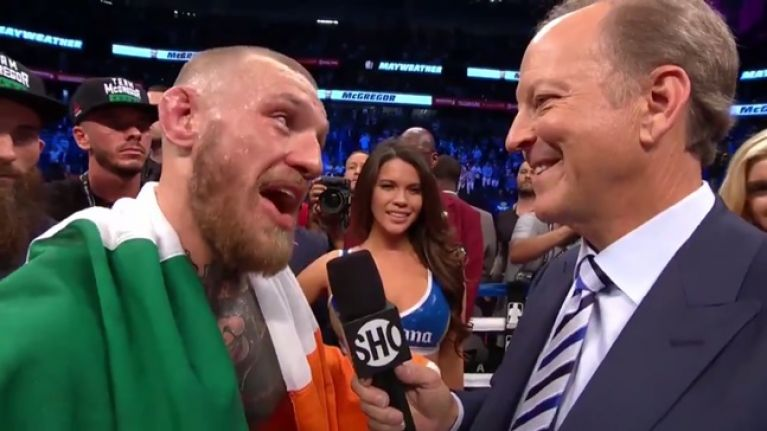 "WATCH: ""Anyone wants a knock, give me a shout."" Conor McGregor's post fight interview was hilarious"