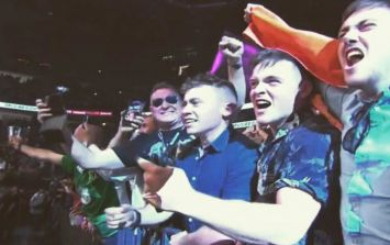 Three Irish lads managed to sneak into the $80,000 front-row seats at the McGregor fight without tickets