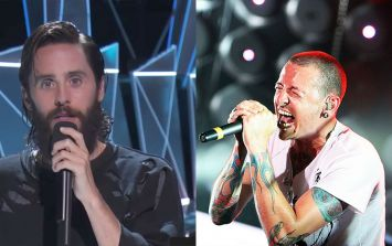 WATCH: Jared Leto pays an emotional tribute at the MTV VMAs to Chester Bennington