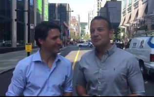 Leo Varadkar seems to be having the time of his life with Justin Trudeau at Montreal Pride