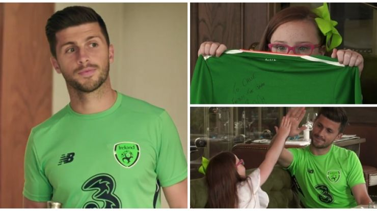 WATCH: Gentleman Shane Long makes young Irish fan's day with special treat before Serbia game