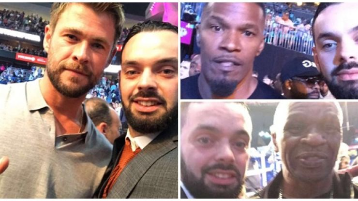 PICS: Irish McGregor fan rubs shoulders with host of A-listers after sneaking into $80,000 ringside seat