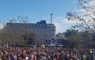 There was some crowd watching the All-Ireland final in Eyre Square
